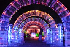 ice sculpture arches
