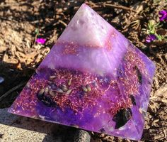 Orgonite Crown Chakra Opening Pyramid by VioletFlameOrgoneLA, $88.00 on Etsy! Color Therapy helps stimulate the crown chakra expanding awareness of all we cannot see yet know is here ∞