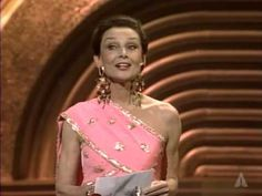 """▶ """"Ran Wins Costume Design: 1986 Oscars""""  At the 58th Annual Academy Awards in Los Angeles, California , March 24, 1986, Audrey Hepburn presents the Oscar for Costume Design to Emi Wada for """"Ran"""". As Audrey approached the podium, she was given a standing ovation."""