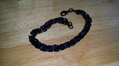 Byzantine Bracelet, Black and Blue