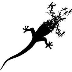 Gecko aus Geckos - Ein kleiner Gecko der aus vielen kleineren Geckos besteht mei�t in den W�sten der Erde und vor allem aber in den Tropen anzutreffen.