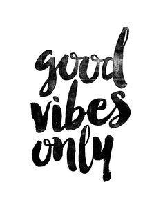Good Vibes Only Black and White Typography Print Inspirational Quote Art Print