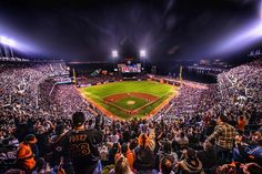 HDR of the the SF GIANTS! by Trey Ratcliff - And then after I left the field, I went to the very very very top part of the nosebleeds to take this shot…