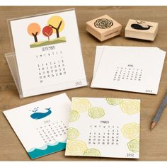 10 stylish DIY calendars for 2012 to replace your calendar app Calendar App, Desk Calendars, Calendar Ideas, Calendar Templates, Cd Crafts, Paper Crafts, Recycled Cds, Make Your Own Calendar, Calendar Organization