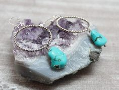 Soutwestern Boho Boho Turquoise 1 Statement Ørepynt - Earrings