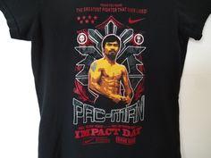 Women's Manny Pac Man Pacquiao NIKE T Shirt Size Medium Tee IMPACT DAY Boxing #Nike #ShirtsTops