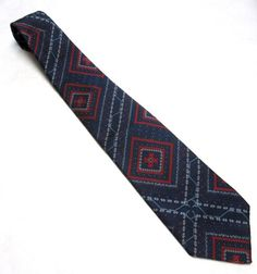 70s Vintage Necktie Blue Red Bogart Tie by sweetie2sweetie on Etsy, $12.99