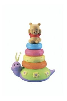 Surprise Inside Stacker by Fisher Price. $12.50. Age Range 6 to 36 Months. Baby reveals cute nature friends within each colorful stacking layer. Pooh sits on top while Tigger is the surprise inside. Part of Pooh Babies Assortment. The stacker sits on a wobbling base for added enjoyment. From the Manufacturer                Stacking toy which highlights Tigger and Pooh characters. Baby reveals cute nature friends within each colorful stacking layer. The stacker sits on a wobbling...