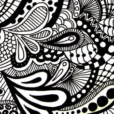 Fun to Color Zentangle Paisley Doodle Drawing ... | Art - Paisley ...