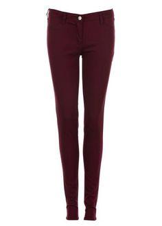 Pantalon slim ROUGE AUBERGINE by NAF NAF