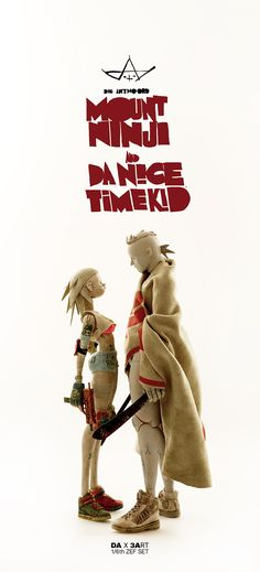 MOUNT NINJI and DA NICE TIME KID  Designed by Ashley Wood  One Sixth Scale Collectible Figure set   Preorder 16/SEP on Bambaland.com