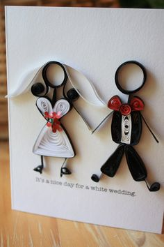 White Wedding Card - Billy Idol - 80's - Stick Figures Unique Greeting Card