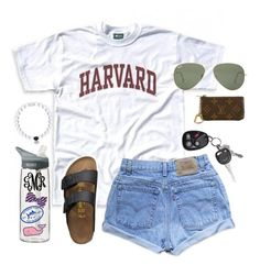 """""""Harvard"""" by lalalanie ❤ liked on Polyvore featuring Birkenstock, Louis Vuitton, Levi's, Ray-Ban, CamelBak, Vineyard Vines and Southern Tide"""