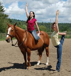 17 photos of people doing yoga on horses