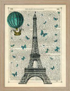 Eiffel Butterflies by Marion McConaghie - Framed Art