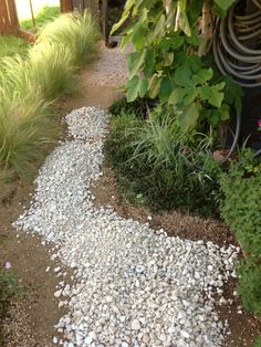 I love the classic look of a pea gravel path or patio. What I don't like is pea gravel that gets everywhere, that washes away with every heavy rain, that hurts my knees because it's too… Garden Tours, Pea Gravel Garden, Outdoor Stone, Backyard Landscaping, Garden Pathway, Gravel Landscaping, Landscape, Backyard, Pea Gravel Patio