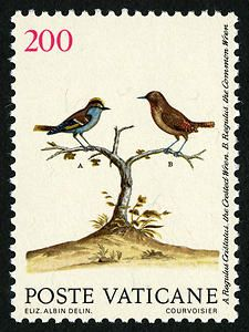 200 lire Crested and Common Wrens single