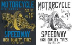 Motorcycle graphic, Print apparel design, fashion graphic.