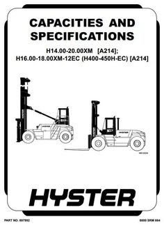 Original Illustrated Factory Workshop Manual for Hyster