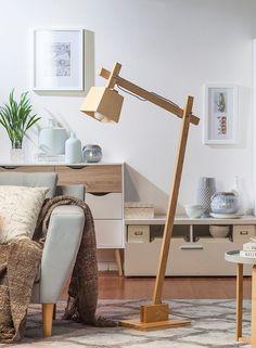 Wood Desk Lamp, Wooden Lamp, Unique Furniture, Diy Furniture, Lampe Decoration, Diy Home Decor, Room Decor, Diy Casa, Diy Pallet Projects
