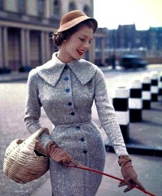 1950's fashion - model fiona campbell-walter 1955