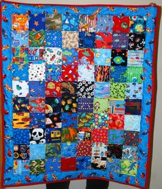 I-Spy Quilt Boys: Hot-Wheels Border/Blue Reverse by beyondquilts