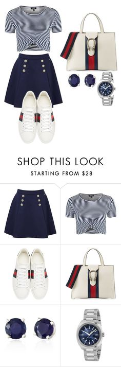 """Untitled #183"" by theresedvr ❤ liked on Polyvore featuring Tommy Hilfiger, Topshop, Gucci and Effy Jewelry"