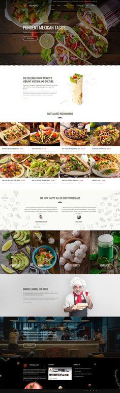 Mexican Restaurant Responsive Moto CMS 3 Template #63733