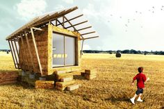 Straw Bale Micro Building by Studio 1984
