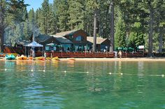 The Beacon Bar and Grill at Camp Richardson Resort. If rum, dumb and numb teeming you of some fantastic memories then you and I have things in common Camping Places, Places To Travel, Places To Go, South Lake Tahoe Beaches, Lakes In California, California Travel, Northern California, Restaurants On The Lake, Lakeside Resort