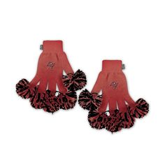 Tampa Bay Buccaneers NFL Spirit Fingerz Embroidered Pom Gloves