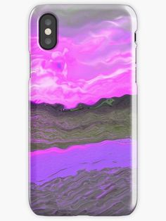 A work of art representing an exotic beach on Maldives, a romantic view with a modern pop art, abstract twist. Phone and pad cases. Modern Pop Art, Pink Abstract, Shades Of Purple, Maldives, Iphone Case Covers, Exotic, Romantic, Beach, Nature