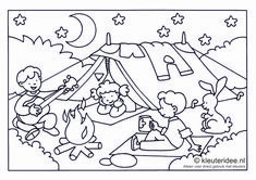 Coloring page camping for toddlers, camping theme, kindergarten idea, preschool campi . Camping Bedarf, Camping Theme, Beach Camping, Camping Checklist, Cupcake Coloring Pages, Free Printable Coloring Pages, Camping Activities, Camping Crafts, Coloring Sheets