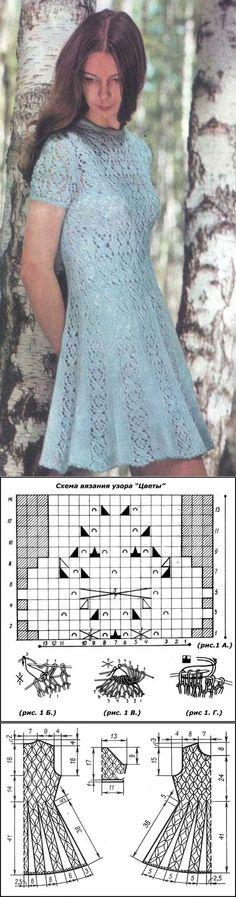 Голубое ажурное платье | Шкатулочка для рукодельниц: