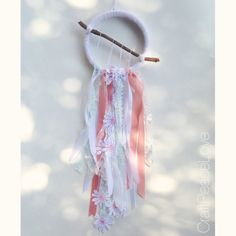 Whimsical Girly Dreamcatcher/Wall Hanging - pinned by pin4etsy.com