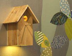 Birdhouse lamp!