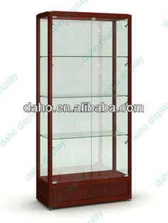 Modern Glass Display Cabinet With Led Lighting (dh-4152) - Buy Display…