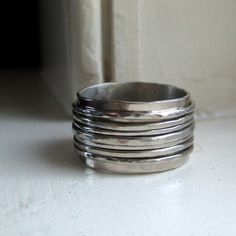 White gold spinner wedding band by tinahdee on Etsy, $1850.00