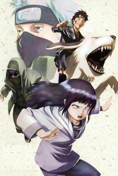 Hinata, Shino, Kiba e Kakashi