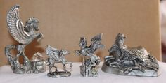 LOT OF 4 PEGASUS' by MASTERWORKS FINE PEWTER