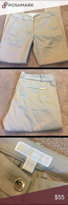 Michael Kors dress pants! Absolutely gorgeous pair of gently worn Michael Kors khaki dress pants! Size 2. Inseam 28.5. Tapered style. Smoke free home. Michael Kors Pants Straight Leg