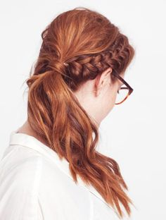french braid, red hair, da bomb.