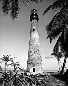 View of Cape Florida Lighthouse at Bill Baggs Cape Florida State Park - Key Biscayne, Florida Cape Florida Lighthouse, Lighthouse Keeper, Key Biscayne Florida, Florida Images, Chicago Photos, Image Title, State Parks, Miami, Tours