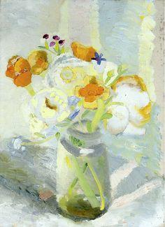 Winifred Nicholson (1893-1981) Flowers in a Jam Jar