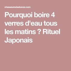 Pourquoi boire 4 verres d'eau tous les matins ? Rituel Japonais How To Stay Healthy, Healthy Life, Bio Food, Good Health Tips, Yoga, Matins, Sports Nutrition, Health And Beauty, Feel Good