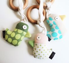 Adorable rattles by mimishop (via Small for Big)