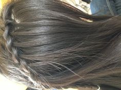 Feathered waterfall braid