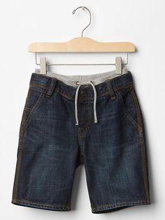 1969 pull-on denim shorts Product Image