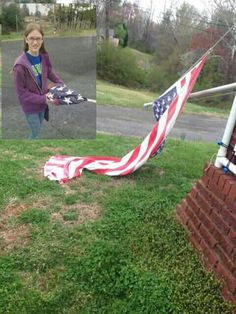"The post below comes from Carolina Shooters Club a gun forum, Kudos to this proud dad & his daughter doing the right thing!     My daughter was at All County Band practice in another school all day. I had to go up and get her. Noticed that the Flag pole was broken and the flag was down at the Shriners building in Valdese. I did not want to be late, and I was past it before I noticed too. On the way back my daughter noticed and made a comment like, ""That's bad."" So I asked her if she wanted…"