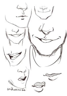 Man mouth smile drawing, drawing men face, drawing face expressions, cartoon drawings of Smile Drawing, Mouth Drawing, Guy Drawing, Drawing People, Drawing Tips, Drawing Sketches, Art Drawings, Drawing Ideas, Sketching